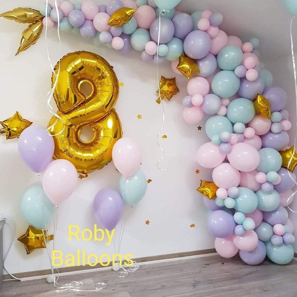 arcada baloane pastel 3